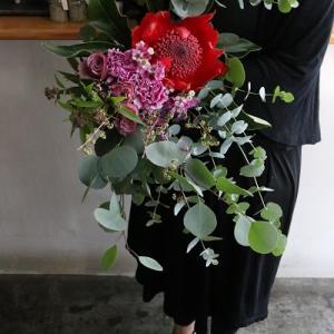 ワイルドフラワーとルリエカラーのお花のブーケレッスン、ご参加ありがとうございました!