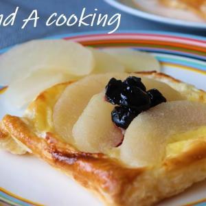 梨のコンポートとパイ生地で美味しいおやつ