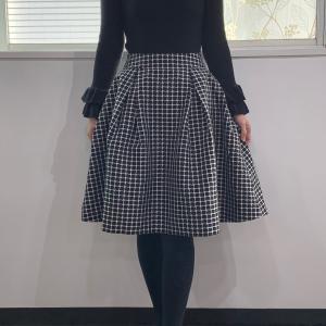 前回の授業の復習でお家で作ったスカート