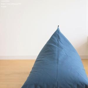 三角のビーズクッション、tetraが届く