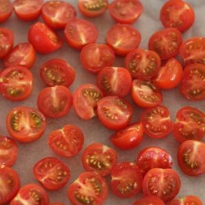 簡単に作る、セミドライトマト