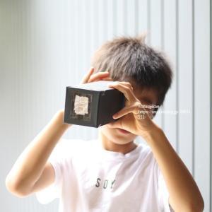 小3息子、夏休みの自由研究「ピンホールカメラ」が完成