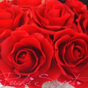 ゚*☆オーダーいただいた真紅の薔薇☆*゚