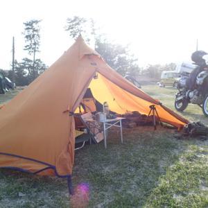 設営完了!気比の浜キャンプ場。