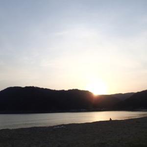 渚のキャンプサイトからおはようございます。
