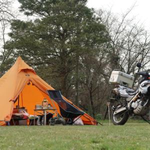 設営完了!きすき健康の森オートキャンプ場。