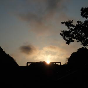 阿武川温泉公園からおはようさん!