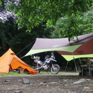 設営完了!新戸キャンプ場。
