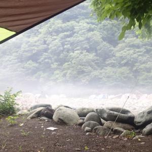 新戸キャンプ場からおはよ〜さん♪