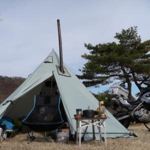 設営完了!内山牧場キャンプ場。