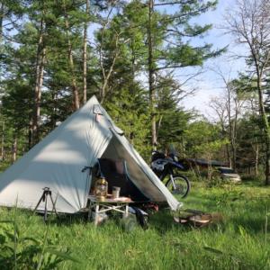 設営完了!戸隠イースタンキャンプ場。