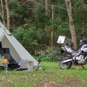 設営完了!尾瀬高原オートキャンプ場。