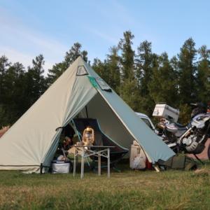 設営完了!星に手のとどく丘キャンプ場。