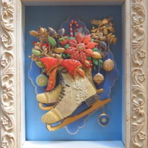 クリスマススケート靴の作品