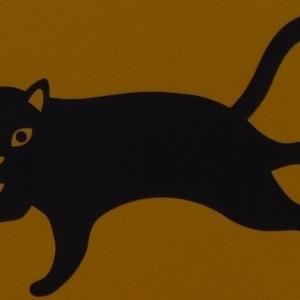 道路標識 動物注意(猫)