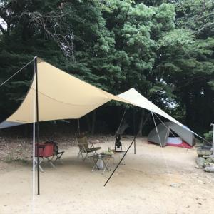梅雨キャンプはやっぱり雨