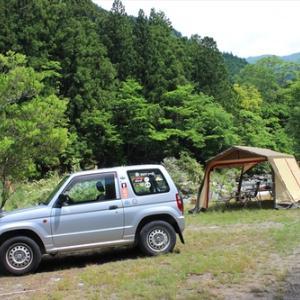 清流のソロキャンプ