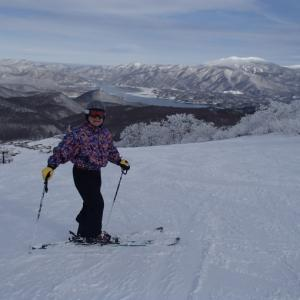 猫魔スキー場で初滑り