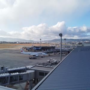 大阪国際空港(伊丹)にて。