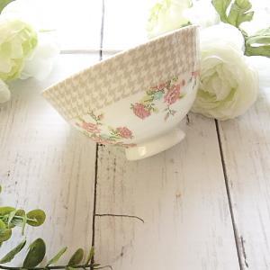 【ポーセラーツ生徒さま作品】どちらも限定転写紙♡クロスステッチ風のご飯茶碗
