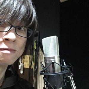 スタジオで歌録り
