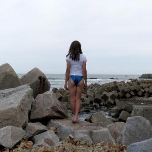 海とあゆみと競泳水着