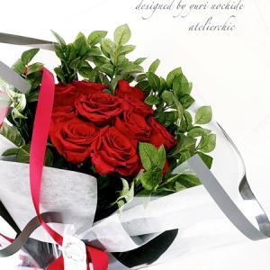・ プロポーズの花束を白いフレームへ