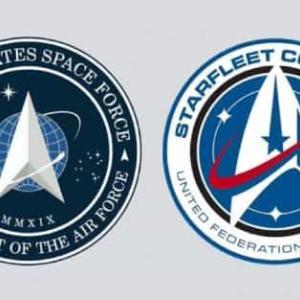 米国宇宙軍と惑星連邦宇宙艦隊のロゴは似てるっ!