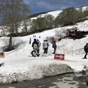 月山スキー場   2019年5月 再行 (山形県 西川町)