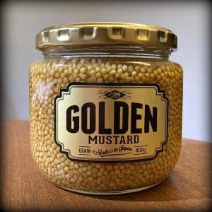 三軒茶屋・太子堂の「佐藤青果店」さんで購入した話題のマスタード、「ゴールデンマスタード(Golden Mustard)」