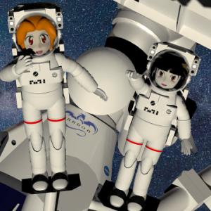 宇宙遊泳のコユリさんと童子さん