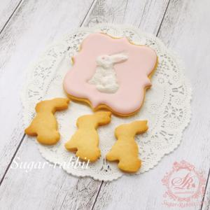 【アイシングクッキー】シンプルなウサギさん