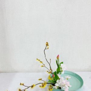春のお花に囲まれて