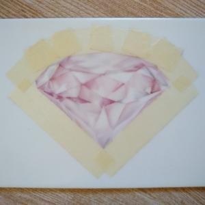 ピンクダイヤモンドを描く③