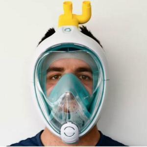 シュノーケルマスクでが人口呼吸器に
