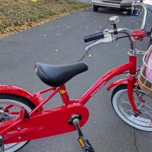 自転車デビューしたんです  (*≧∀≦)