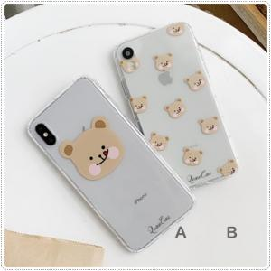 かわいいクマiPhoneケース。2種UPしました。