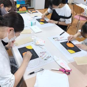 栃木トヨタチョークアート講習会②