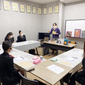 栃木トヨタチョークアート講習会③