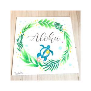 癒しのハワイアンチョークアート 「ホヌのインテリアボード」