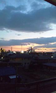 【日常】夕焼けがきれい
