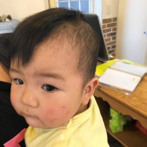 赤ちゃんの7:3坊主カット 龍ヶ崎市のヘアーサロンバーバーヤマナ 美容室 理容室