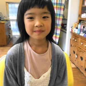 小学生の女の子のヘアスタイル 龍ヶ崎市のヘアーサロンバーバーヤマナ 美容室 理容室