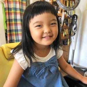 園児の女の子のパッツンカット 龍ヶ崎市のヘアーサロンバーバーヤマナ 美容室 理容室