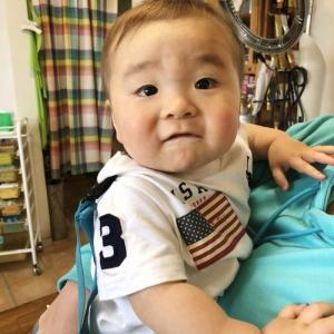 可愛いウルフカット 0歳児  龍ヶ崎市のヘアーサロンバーバーヤマナ 美容理容