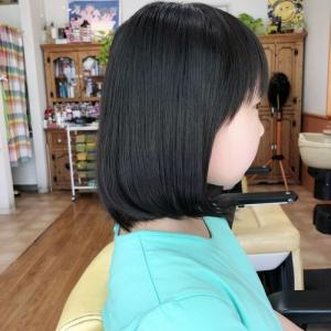 可愛いボブスタイル  龍ヶ崎市のヘアーサロンバーバーヤマナ 美容理容