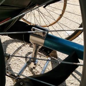 三輪車のステップを修繕する。