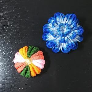 つまみ細工で「和菓子」