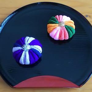 つまみ細工で和菓子 2個目
