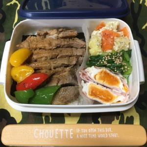 (๑╹ω╹๑ )にーさん今日のお弁当☆ご希望の8割肉☆のっけ弁☆